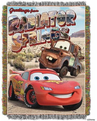 """Northwest Company The Disney Pixar's Cars """"Greetings from Radiator Springs"""" 48"""" x 60"""" Woven Tapestry Throw"""