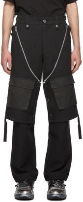 Blackmerle Black Check Cargo Pants