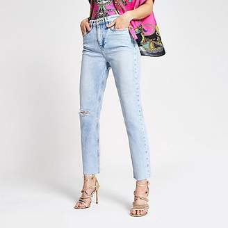 River Island Light blue straight jeans