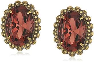 Sorrelli Mahogany Decorative Oval Cut Crystal Clip-On Earrings