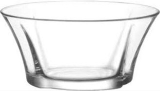 Lav LAV 74.5 Ounce Glass Bowl | Beautiful Geometric Round Shape, Made from Thick, Durable Glass, Great for Salads, Dessert, Fruit, and More, Microwave and Dishwasher Safe