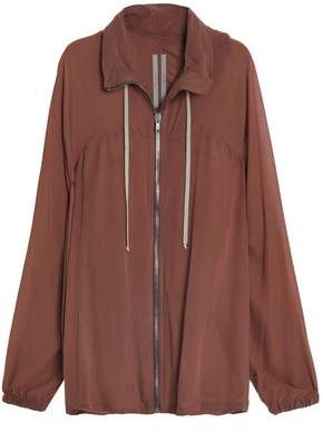 Rick Owens Silk Hooded Jacket