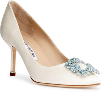 Manolo Blahnik Hangisi 70 cream AQC pumps