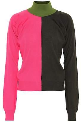 Marni Colorblock turtleneck wool sweater