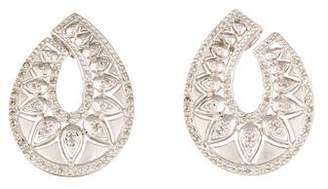 14K Diamond Pear Shaped Earclips