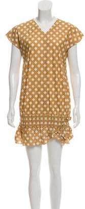 Marc Jacobs Printed Drop Waist Dress brown Printed Drop Waist Dress