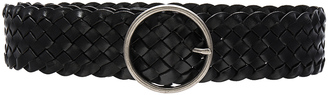 Linea Pelle Round Buckle Belt $158 thestylecure.com