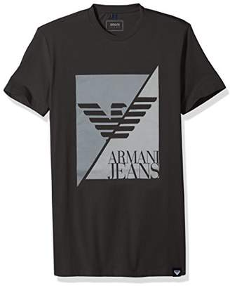 Armani Jeans Men's Split Eagle Logo T-Shirt