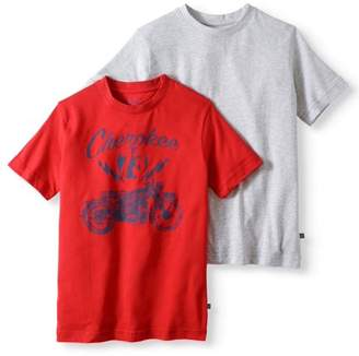 Cherokee Boys' Solid And Graphic T-Shirt 2 Pack