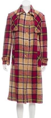 Missoni Plaid Wool Coat