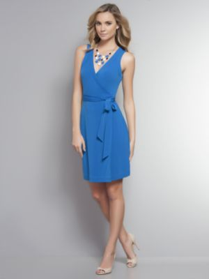 Sleeveless Matte Jersey Wrap Dress