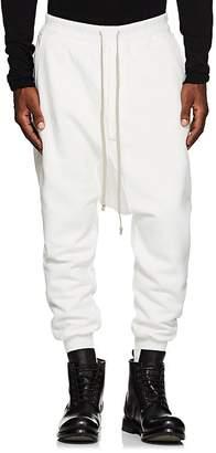 Rick Owens Men's Prisoner Cotton Fleece Drop-Rise Sweatpants