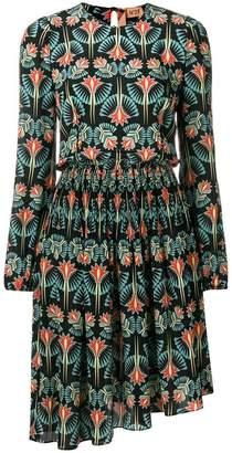 No.21 asymmetric floral-print dress
