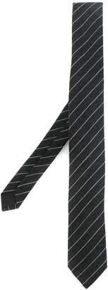 Saint Laurent tennis stripe skinny tie