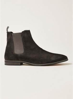 Topman Mens Grey Gray Suede Track Chelsea Boots