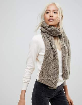 French Connection Chunky Oatmeal Knitted Scarf