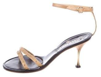 Chanel Studded CC Sandals
