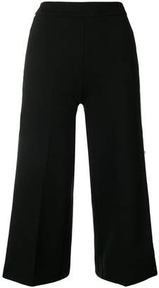 Twin-Set popper cropped trousers