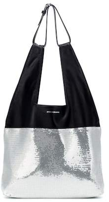 Paco Rabanne Section Belted Shopper leather tote
