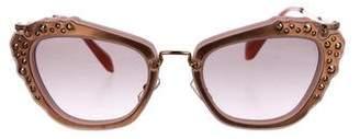 Miu Miu Crystal Cat-Eye Sunglasses