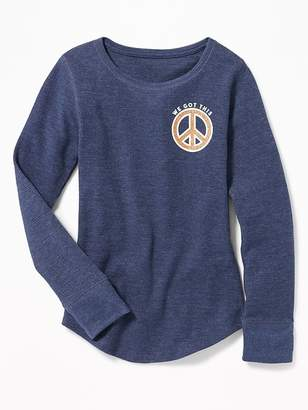 Old Navy Thermal-Knit Scoop-Neck Tee for Girls