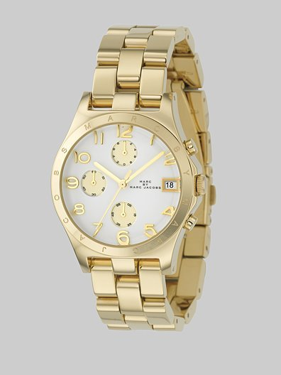 Marc by Marc Jacobs Ladies Gold IP Stainless Steel Henry Watch