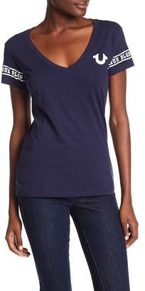 True Religion True Arround Deep V-Neck Tee