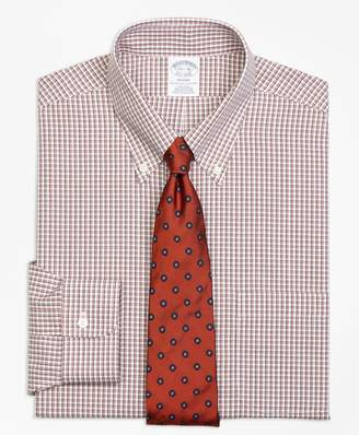 Brooks Brothers Regent Fitted Dress Shirt, Non-Iron Twin Check