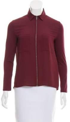 The Kooples Sport Long Sleeve Zip- Front Jacket