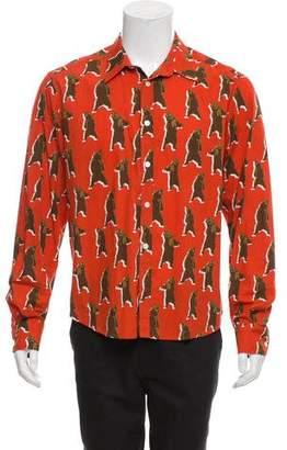 Band Of Outsiders Animal Print Button-Up Shirt