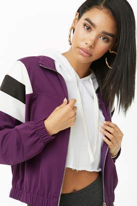 Forever 21 Colorblock Zip-Front Jacket