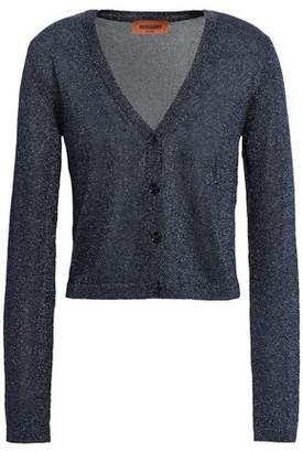 Missoni Cropped Metallic Stretch-knit Cardigan