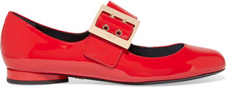 Lanvin - Patent-leather Mary Jane Pumps - Red $695 thestylecure.com