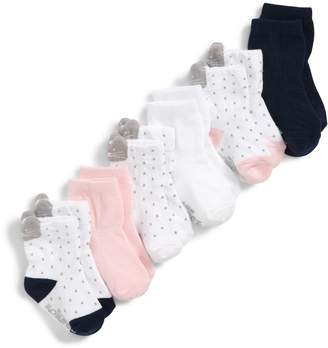 Robeez R) Sweet Kitty 6-Pack Ankle Socks