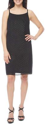Ronni Nicole Sleeveless Dots Shift Dress