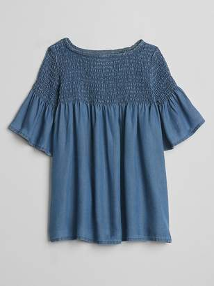 Gap TENCEL Denim Smocked Dress