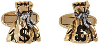 Paul Smith Gold and Silver Money Bag Cufflinks