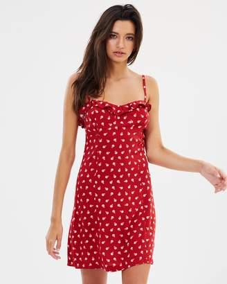 Polka Dance A-Line Frill Dress