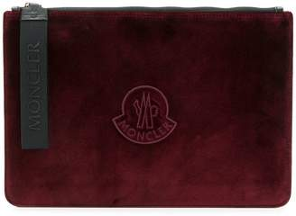 Moncler logo zipped clutch