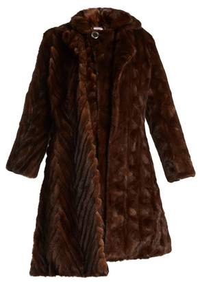 Double Layered Reworked Mink Fur Coat - Womens - Brown