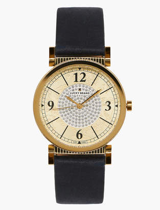Lucky Brand Carmel Navy Leather Watch