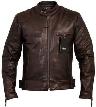 David Beckham Charlie LONDON Mens Vintage Stannard Leather Jacket