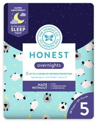 The Honest Company Honest Overnights 20-Pack Size 5 Diapers in Sleepy Sheep Pattern