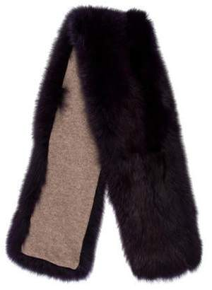 Mink Fur Scarf Purple Mink Fur Scarf