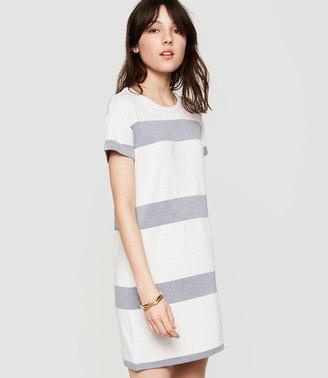 Lou & Grey Striped Signaturesoft Tee Dress $59.50 thestylecure.com