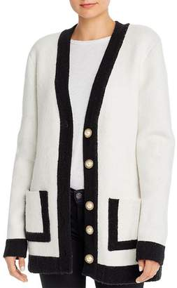 Ronny Kobo Omorose Faux-Pearl Button Cardigan