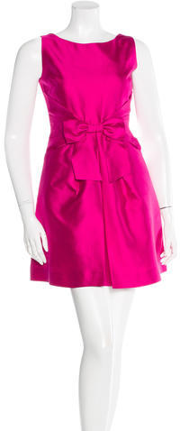 Kate Spade Kate Spade New York Silk Bow-Accented Dress