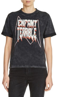 Women's Maje Enfant Terrible Graphic Tee $125 thestylecure.com