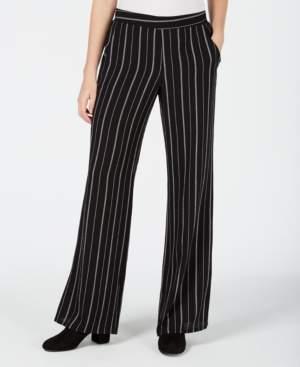 BCX Juniors' Striped Wide-Leg Pants