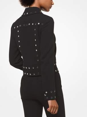 MICHAEL Michael Kors Studded Stretch-Crepe Jacket